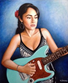 Girl With Electric Guitar - By Felipe Ramos